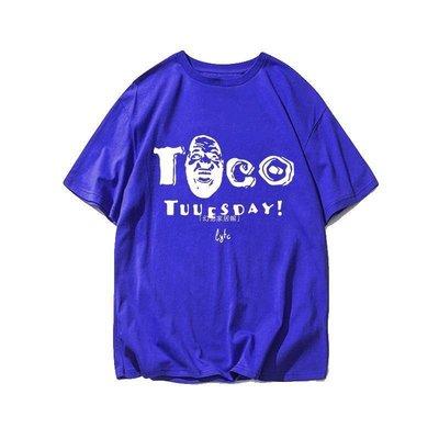 「四月天衣舍」 詹姆斯TACO TUESDAY湖人T恤衫周二搞笑玉米卷籃球運動寬松純棉短袖MP623