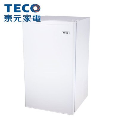 全網最低4999,自取現貨,銀色TECO 東元 99公升單門小冰箱 R1091W R1092N 節能 小鮮綠