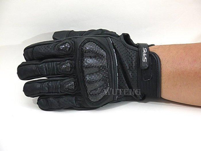 真皮 SG-SR11 碳纖維 Carbon 卡夢 護具 防率手套 SPEED-R正品 牛皮 短版手套 {WU TENG}