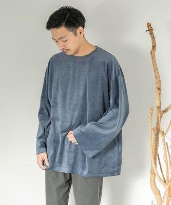 【傑森精品】日本 urban research 絲絨 OVERSIZE 寬鬆 落肩 長袖T恤 Tee