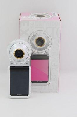 【青蘋果】Casio EX-FR100 白 翻轉螢幕 可分離二手數位相機 自拍神器  相機#DA301