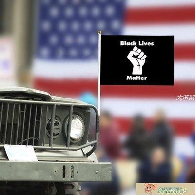 10PCS BLACK LIVES MATTER Hand Flag Supplies 14*21cmTRD65-大笨鼠商城3195