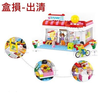 【飛揚特工】小魯班 小顆粒 積木套組 超市 M38-B0529(非樂高,可與 LEGO 相容)