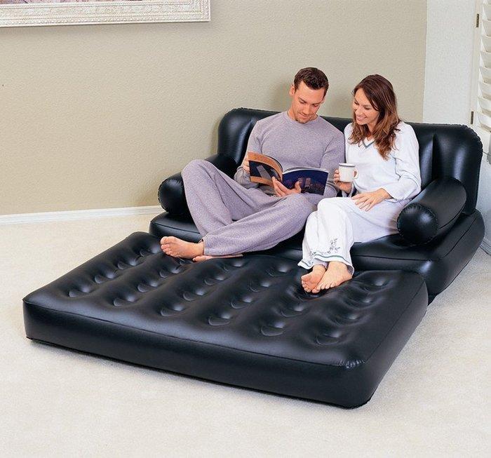 歐美第一品牌 BESTWAY(蜂窩氣柱獨立筒) 多功能 雙人超大 沙發充氣床 折疊氣墊床 宿舍 外出旅遊 寄宿 必備