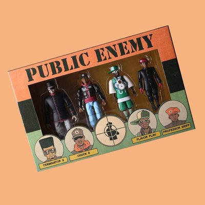 JCI:Medicom Toy出品 Public Enemy 盒裝可動公仔組 / HipHop Family Tree