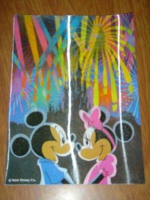 H04-日本迪士尼disney立體postcard