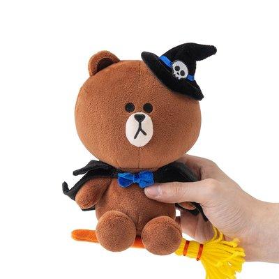 全新 2019 韓國直購 LINE FRIENDS 19CM Halloween 萬聖節版 Brown 熊大公仔 正品 預購(可旺角門市交收)