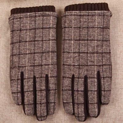 羊毛手套觸控男手套-時尚商務加絨方格防寒保暖時尚配件72q14[獨家進口][巴黎精品]