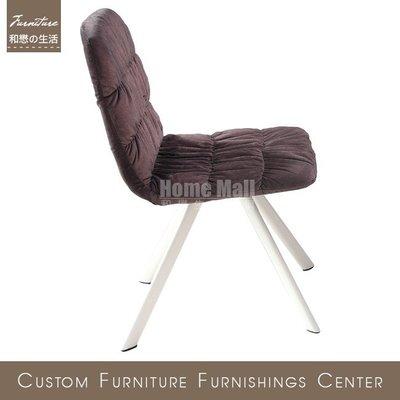 HOME MALL~品味生活咖啡色布餐椅(B3076)(自取)$1700元(雙北市免運費)6N
