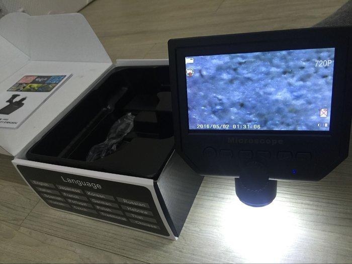 BOSHIREN正品!數位顯示顯微鏡 電子數碼OLED螢幕顯微鏡 600倍充電高清高倍 電子顯微鏡毛小孩清潔檢查除蚤