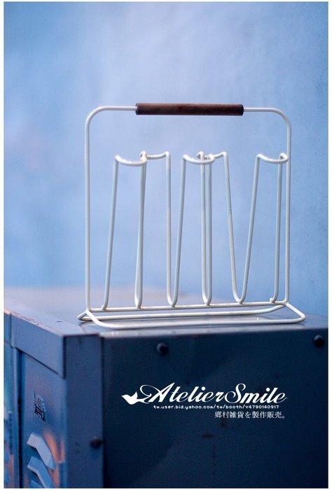 [ Atelier Smile ] 鄉村雜貨 鐵製簡約杯架 玻璃杯架 瀝水架 廚房置物架 (現貨)