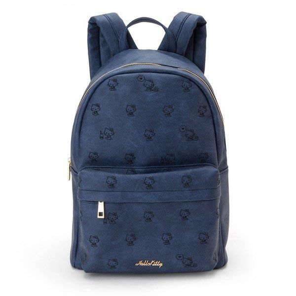 代購現貨  日本三麗鷗Hello Kitty牛仔風格印花合皮後背包