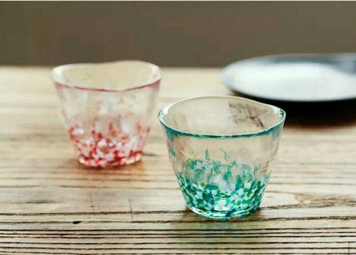 日本手作日本原裝進口玻璃櫻花杯燒酒杯水果酒杯