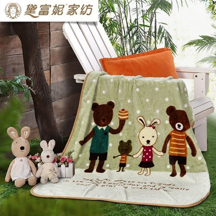 【優上精品】兒童毛毯加厚保暖寶寶云毯幼兒園午睡毯蓋毯嬰兒小毯子冬季(Z-P3211)