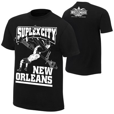 ☆阿Su倉庫☆WWE WrestleMania 34 Suplex City T-Shirt 摔角狂熱最新款 特價中