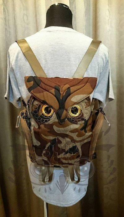 香港貓頭鷹迷彩後背包(S),實品拍攝有店面🌟最特別的禮物都在奧爾思🌟