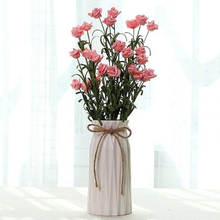 爆款滿天星花瓶擺件創意家居客廳白瓷小清新干花插花簡約現代陶瓷花器#簡約#陶瓷#小清新