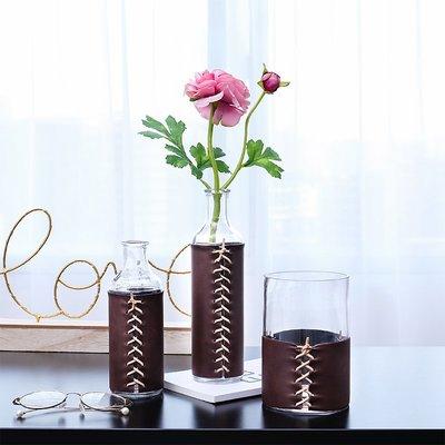 〖洋碼頭〗北歐創意玻璃花瓶擺件家居客廳電視櫃擺設現代簡約幹花插花裝飾品 fjs666