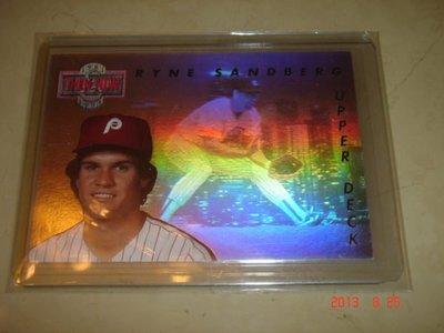 美國職棒 Phillies Manager Ryan Sandberg 1992 UD Then & Now #TN6  雷射卡 特殊卡 球員卡