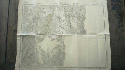 台灣老地圖(日據時期)日月潭.(品相完整)大正十四年
