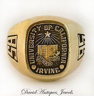 ((戒指王)) King of Ring 1995年 10K 美國加州大學歐文分校戒