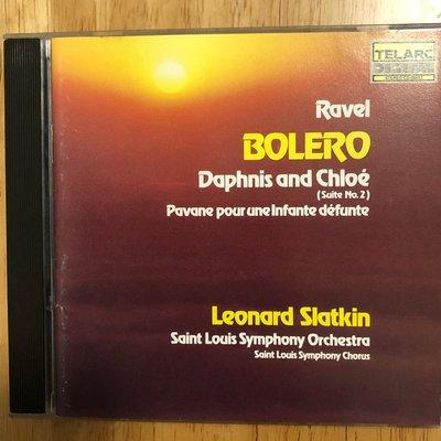 *愛樂熊貓'90TELARC美盤(DIDX無ifpi內圈凸字)SLATKIN/Ravel拉威爾Bolero達芬妮與克羅埃