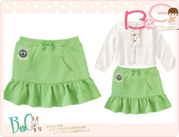 【B& G童裝】正品美國進口GYMBOREE字樣LOVE青綠色短裙6yrs