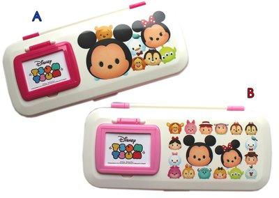 【卡漫迷】 Tsum 雙層鏡梳 鉛筆盒 白蓋 二款選一 ㊣版 塑膠 鏡子 梳子 筆盒 文具盒 迪士尼 米奇米妮 三眼怪