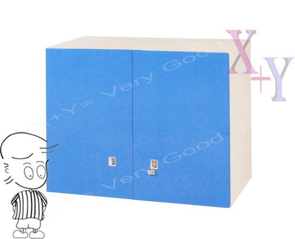 【X+Y時尚精品傢俱】藍色74 雙開門上置式鋼製公文櫃.理想櫃.適合學校. 公司.台南市家具