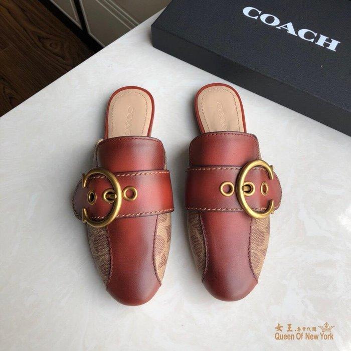 【紐約女王代購】COACH 寇馳 2020新款 懶人鞋 百搭休閒鞋  時尚精品 美國連線代購
