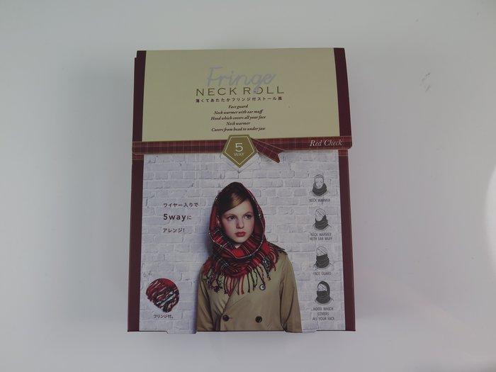 iSport日本代購  FRINGE NECK ROLL 多用途 大人氣保暖圍巾 抗寒FRINGEHAT001