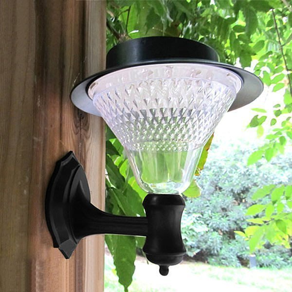 全新 高亮度 20LED 太陽能充電式 壁燈 太陽能庭院燈 歐式花園燈B44
