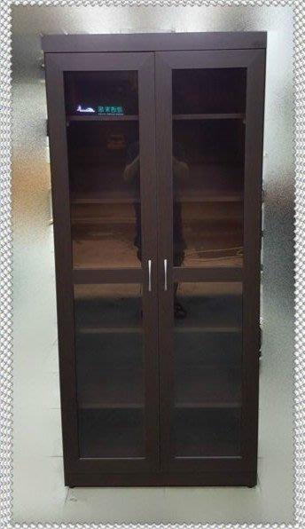 全新庫存家具賣場  全新玻璃門胡桃木書櫃 展示櫃 酒櫃* 書架 庫存家具拍賣 沙發
