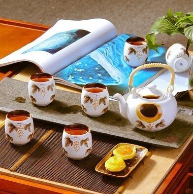 景德鎮陶瓷茶具套裝家用功夫茶具家用茶壺茶杯提梁整套