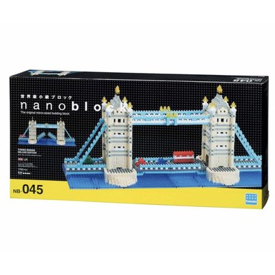 【LETGO】現貨 正版公司貨 Nanoblock 日本河田積木 NB 045 倫敦塔橋 DX豪華版 倫敦鐵橋