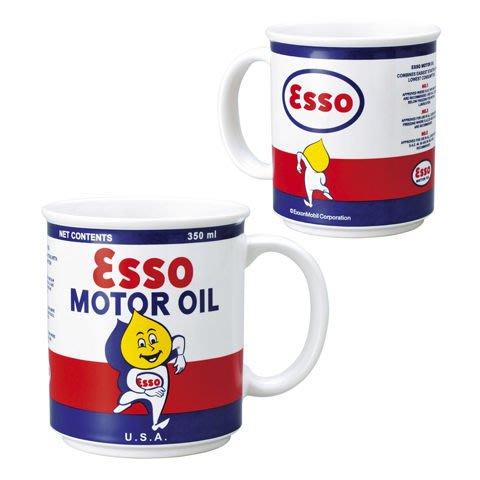 (I LOVE樂多)經典美式老牌ESSO埃索油滴人 350ML馬克杯 咖啡杯