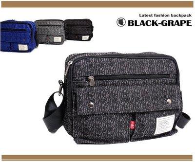 吉田風輕量化帆布質感斜背包 /側背包【L3206】黑葡萄包包