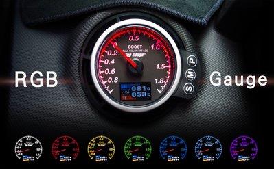 【精宇科技】MINI R56  ㄖRGB GAUGE 多功能 四合一渦輪錶 水溫 排溫 電壓 OBD2