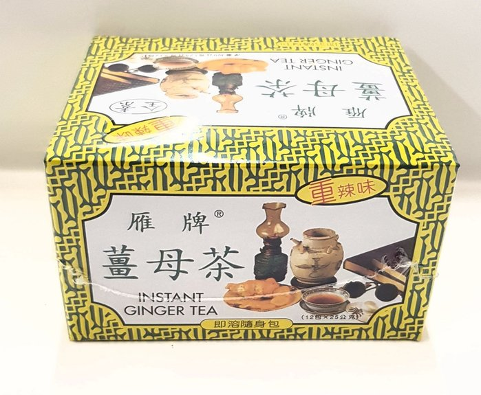 雁牌薑母茶🍃重辣味🍃(12包×25公克)超低特價85元