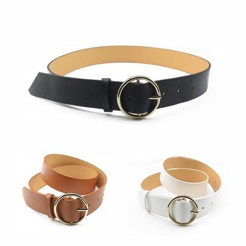 腰鏈皮帶 復古圓環針釦學院風皮帶【FJYK-3S】