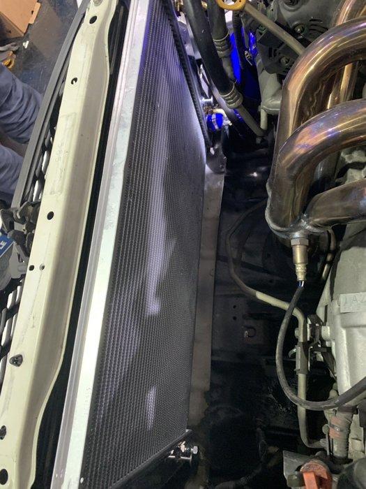 ☆光速改裝精品☆03-09 TOYOTA WISH 鋁製水箱 全鋁水箱