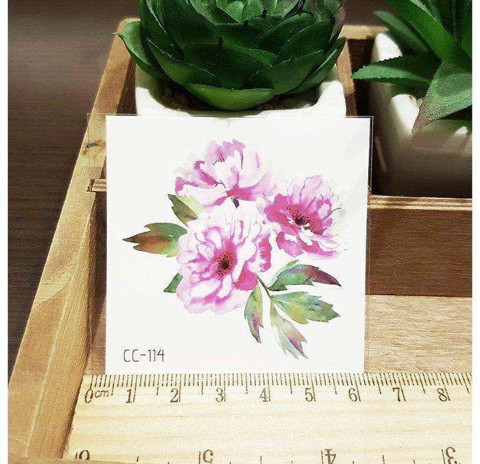 【萌古屋】花朵單圖CC-114 - 防水紋身貼紙刺青貼紙K38