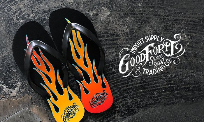 GOODFORIT / Goodforit Rod Flames Flip-Flops 熾燄限量夾腳拖鞋