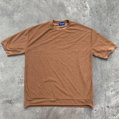 【inSAne】 韓國購入 / 毛料 / 短袖 / 單一尺寸 / 駝色