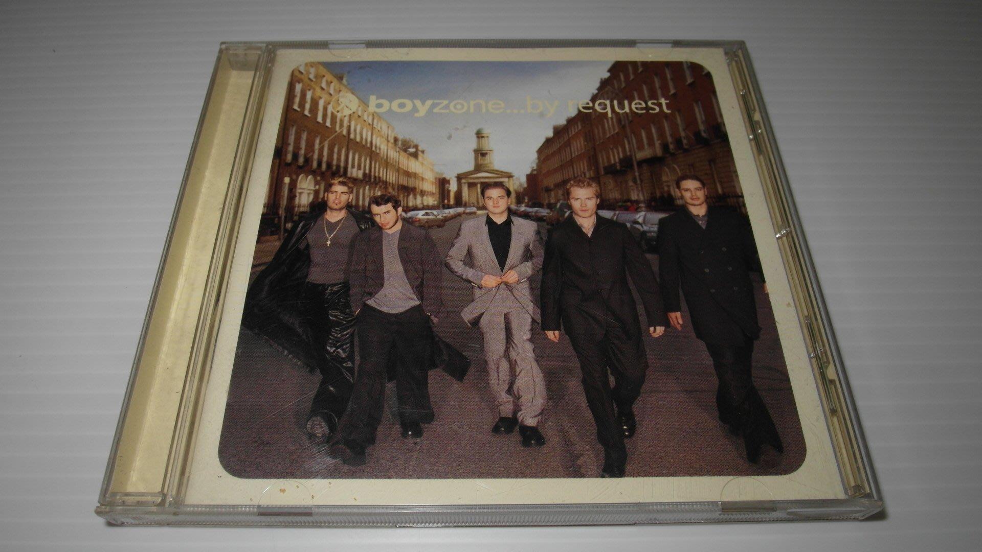 boyzone 男孩特區的音樂專輯by request  有歌詞 流行搖滾樂 CD片 保存佳 播放正常