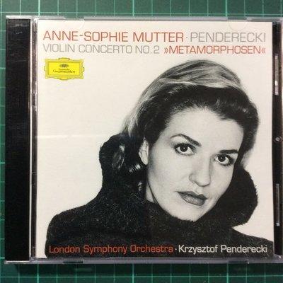 Mutter慕特-Penderecki小提琴協奏曲/Bartok巴爾托克小提琴奏鳴曲 德版