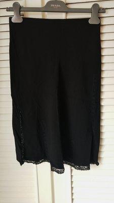 Blumarine 黑色鏤空蕾絲及膝裙