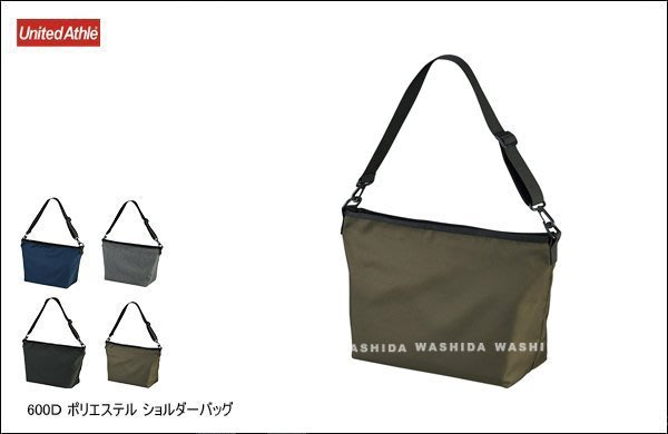 WaShiDa【UA1482】United Athle 600D 聚酯纖維 側背包 日常 中型 斜背 郵差包