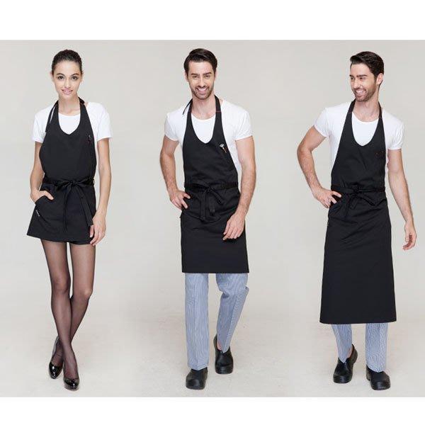 5Cgo【鴿樓】會員有優惠 12549456371 圍裙韓版時尚工作服廚房家居做飯男女圍腰廚師咖啡店定制工作圍裙 長款