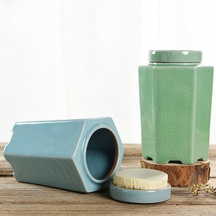 旅行茶具 茶具組 密封茶葉罐陶瓷茶盒茶倉旅行儲物罐普洱罐存茶罐特價茶具11